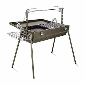 Linckry Barbecue portatif de Barbecue de Jardin extérieur, Gril de Charbon de Bois épais Pliant de ménage, Peut être stocké comme Valise, Conception séparée de Bassin