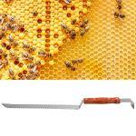 LIUTT Outil Multifonctionnel d'apiculture de grattoir de Couteau de coupeur de Miel d'acier Inoxydable avec Le kit d'apiculture de poignée en Bois