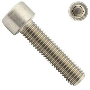 Lot de 10 vis cylindriques à six pans creux – M10 x 40 – DIN 912 (ISO 4762) – Filetage complet – Vis à tête cylindrique – En acier inoxydable A2 V2A – SC912