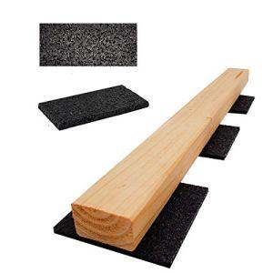 Lot de 100 patins de terrasse en granulés de caoutchouc pour terrasse (100 x 50 x 10 mm)