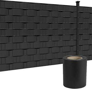 LZQ Film brise-vue en PVC extra épais opaque pour clôture de jardin, balcon (65 m x 19 cm, anthracite)