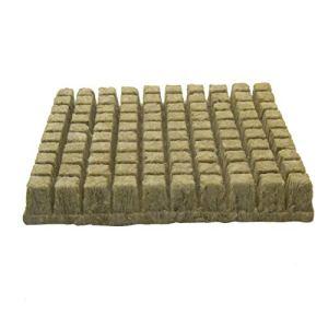 Modonghua Cubes de laine de roche pour culture/colonisation – Cubes de laine de roche – Feuilles de démarrage – Culture hydroponique – Cubes de laine de roche sans sol – Culture hydroponique