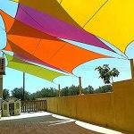 Nwanfeng Kookaburra Auvent de Voile Pare-Soleil de Jardin imperméable en Charbon de Bois 95% Bloc UV (Rectangle de 5 MX 3 m)