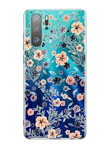 Oihxse Mode Transparent Silicone Case Compatible pour OnePlus 6 Coque, Ultra Mince Souple TPU Mignon Animal Série Protection de Housse Anti-Scrach Bumper Etui -Fleur