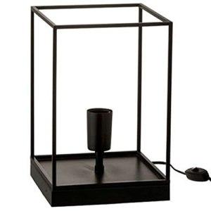 Paris Prix – Lampe à Poser Une Ampoule 30cm Noir