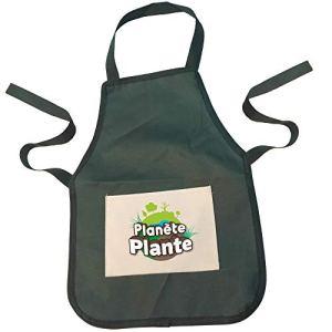PLANETE PLANTE 170521 Tablier Enfant-Vert-Accessoires De Jardinage-Taille S à M-30 cm-À Partir de 3 Ans