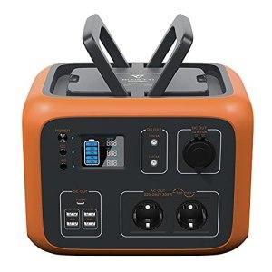 PowerOak Bluetti AC50S 500Wh Générateur Solaire Portable avec Onduleur 300W et Prises AC/DC/USB Groupe Electrogene Solaire Power Station avec Batterie au Lithium pour Camping et Camping-car