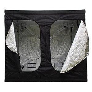Puratikodon Tente de culture 240 x 240 x 200 cm – Tente de culture d'intérieur – Tente de culture étanche et étanche – 240 x 240 x 200 cm