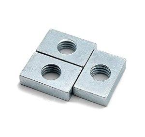 PZZZHF Noix carrée de 700pcs GB39 M3 M4 M5 M5 M6 pour Accessoire de profilé d'aluminium, Assortiment de Blocs de Curseur de Curseur rectangulaire en Acier au Carbone Mince