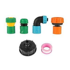 Raccord de réparation de tuyau 60 mm vers filetage interne 1,9 cm, adaptateur de tuyau 1,27 cm, 1,9 cm, 1,9 cm, 1,9 cm, 1,5 cm (Couleur : noir et vert)