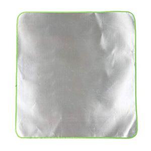 roosteruk Plafond De Protection en Aluminium,Tapis De Grill Tapis De Protection De Sol Résistant À La Chaleur 1mx1m apposite