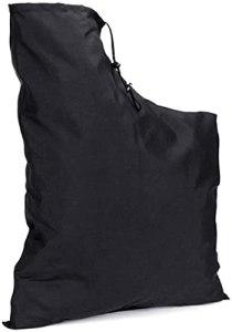 Sac de souffleur de feuilles,sac de rangement de feuilles,sac de vidage inférieur à glissière pour souffleur d'aspirateur,sac de collecte de feuilles de remplacement
