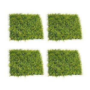 Select Zone Lot de 4 tapis de sol en gazon artificiel pour extérieur, jardin, balcon (style A)