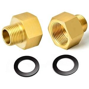 solawill 2 pièces Adaptateur de gaz, Laiton Adaptateur Adaptateur de Tuyau de gaz en cuivre 1/2″ vers 1/4″,Adaptateur pour Tuyau de gaz avec 2 Joint dans,pour cuisinière à gaz ou Plaque de Cuisson