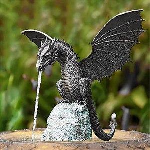 Spray d'eau Dragon – Caractéristiques pour le jardin – Figurine de jardin – Gargouille – Décoration de jardin