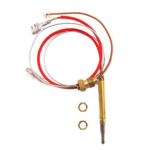 Thermocouple à gaz universel 410 mm de longueur cuisinière à gaz Kit de remplacement de cheminée thermocouple universel pour chauffe-eau à gaz barbecue, vis de queue M8x1