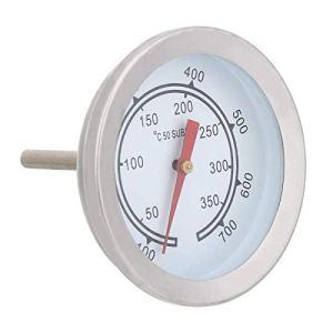 Thermomètre, 100~700 ℉ Acier Inoxydable BBQ Thermomètre Jauge de température Cadran analogique Double échelle