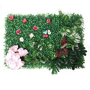 TTIK 12 PCS Haie De Jardin Artificielle, Panneaux De Verdure Mur Végétal Mur De Fond Artificiel Mur Gazon pour La Maison, La Chambre Ou Le Jardin DéCoration 40 X 60 Cm