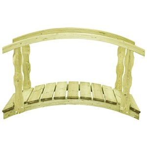 WELLIKEA Pont de Jardin avec Balustrade 170x74x105 cm Pin imprégné