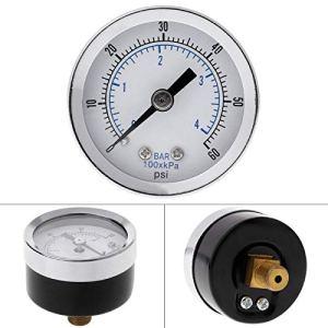 WFAANW Piscine SPA Filtre Eau Air Huile Vacuum Utilitaire Dry Utility Mini Gauge de pression 60PI Montage latéral 1/8 » Puc de pouce