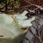 WSTERAO Bain d'oiseaux pour Le Jardin, Bain d'oiseaux Bain d'oiseaux avec des Oiseaux Autour de Bain d'oiseaux résistant au Gel Bol d'alimentation Bassin d'oiseaux