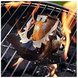 YANRU Stand De Poulet à La BièRe pour Grill, Durable, LéGer, Support De Poulet pour Grill – pour L'Utilisation De Barbecue à La Maison (BesBet)
