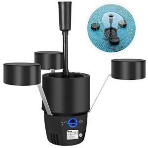 Yorbay CSP-250 Skimmer de Bassin Écumeur Skimmer Flottant de Bassin avec 10m Câble d'alimentation Eponge Filtrante, avec Fonction Fontaine pour Bassins(Réutilisable)
