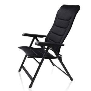 your GEAR Sovana 3D Chaise de Jardin à Haut Dossier – Chaise XXL Pliable avec Rembourrage à séchage Rapide et revêtement en Maille 3D, Dossier réglable en 6 Positions