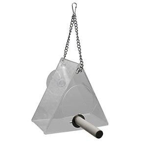 Yousiju Home Pet Bird American Triangle Triangle Suspending Transparent Étanche Gestionnaire Géométrie Intérieur Fenêtre Fenêtre Verre Grader