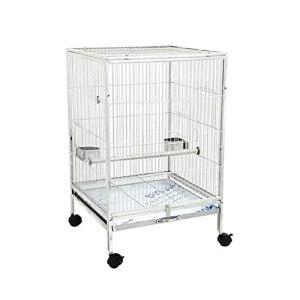 zlw-shop Cage à Oiseaux Cage perroquette à Plateau Large Cage d'oiseau en Acier Inoxydable Perroquet Cage de la Cage de Noisette myna à myna Convient aux Oiseaux de Petite et Moyenne Taille Nichoirs