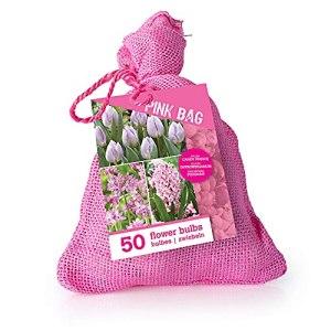 50x Bulbe de fleurs – Mix Pink Bag | Tulipa + Hyacinthus + Alium | Fleurs roses | Bulbe à floraison précoce | Plantes fleuries vivaces
