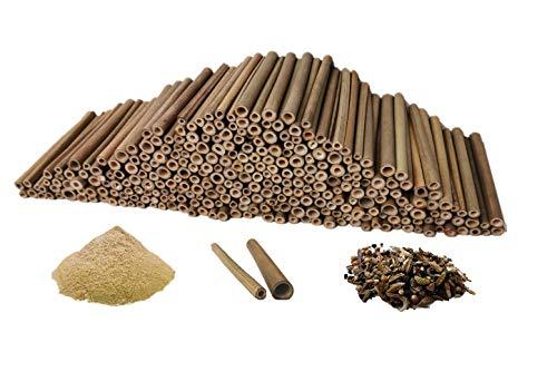 aktiongruen Mega Pack Lot de 300 tubes de bambou pour loisirs créatifs avec 300 g de poudre d'argile et plus encore
