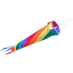 CIM Manche à air – Windturbine 90 Rainbow – résiste aux UV et aux intempéries – Ø20cm, Longueur : 90cm – INCL. émerillon à roulement à Billes