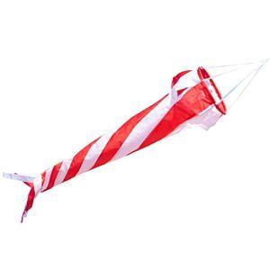 CIM Manche à air – Windturbine 90 Red/White – résiste aux UV et aux intempéries – Ø20cm, Longueur: 90cm – INCL. émerillon à roulement à Billes