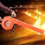 CjnJX-Vases Souffleuse à Neige Haute Puissance, souffleuse à Neige à Deux Temps pour Serre de Jardinage, extincteur à Vent avec Turbine en métal et Couvercle en métal