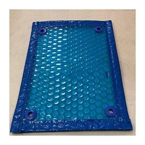 GDMING Couverture De Piscine Solaire, Piscine Bâche Doublure en PVC Protecteur pour Piscines À Cadre Et Piscine Gonflable Retenir La Chaleur, 41 Tailles (Color : Blue, Size : 450x450cm)
