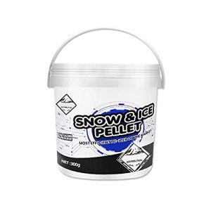 Gidenfly Dégivreur, déneigement, dégivrage rapide, dégivrage et allée – Agent de fonte de neige – Facile à utiliser (300 g) de sel pour les allées – Pas de résidus salissants ou de taches