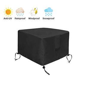 Hohong Bâche carrée pour brasero – Imperméable à l'eau, au vent et aux UV – Résistante à l'eau et aux UV 30x30x13inch/80x80x32cm