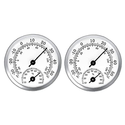 Hotaden Compteur d'humidité numérique, 2pcs Thermomètre Thermomètre, Thermomètre intérieur, Pointeur d'hygromètre pour Cave à vin de Cuisine à Effet de Serre (Blanc)