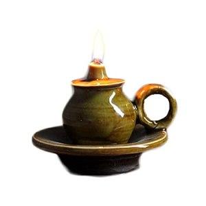 Lanterne à Huile au kérosène Lampe à pétrole Lampes à Huile Anciennes en céramique, Lampes à Beurre pour Lampes, Lampes à kérosène rétro, Lampes à Huile à mèche à l'ancienne pour Bouddha, La