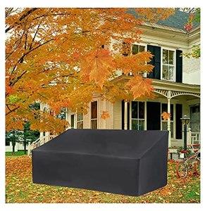 LJWLZFVT Housse de Banc de Jardin 2/3/4 Places imperméable, Coupe-Vent, Anti-Ultraviolet, Anti-déchirure, Robuste Canapé de Protection en Tissu Oxford 210D(Size:3-Seater(163X66X89cm))