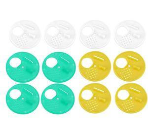 Lot de 12 outils d'apiculture ronds en plastique pour nids de porte et grille de ventilation