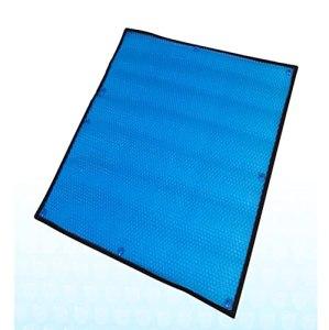 Rectangle bleu PE Couverture de couverture de piscine solaire Couverture de chauffage pour piscines rectangulaires dans le sol et au-dessus de la terre utilisez le soleil pour chauffer la piscine