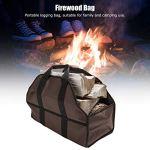 Sac de bois de chauffage, sac de transport en bois portable en tissu Oxford 600D support de porte-bûches extérieur, sac de transport de bois de chauffage pour tenir les bûches, brindilles, branches