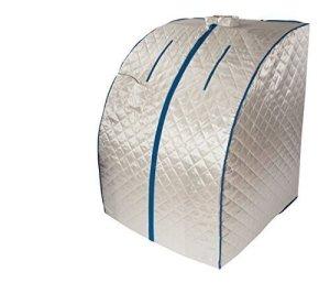 Sauna portable infrarouge XL Deluxe avec ventilateur en céramique 1500 W «Argent»