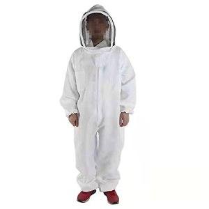SHAOXI Coton Plein Body Beeweking Vêtements Veil Hood Hood Chapeau Anti-Abeille Vêtements de Protection Spécial Vêtements d'apiculture Equipement d'abeille pour l'arrière-Cour et l'abeille