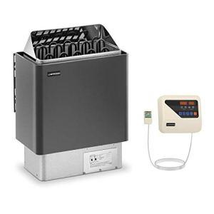Uniprodo Kit Poêle Pour Sauna 9kw Chauffage Électrique À Sauna Et Unité Tableau Boitier Système De Commande UNI_SAUNA_G9.0KW-SET-1 (Cabines de 9-13 m³, 30-110 °C, Commande Externe, LED)