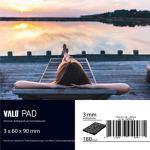180x tampons d'isolation de terrasse sur plots [3mm] 60x90mm en granulés de caoutchouc de différentes épaisseurs – utilisables comme sous-couche de piscine, tapis anti bruit