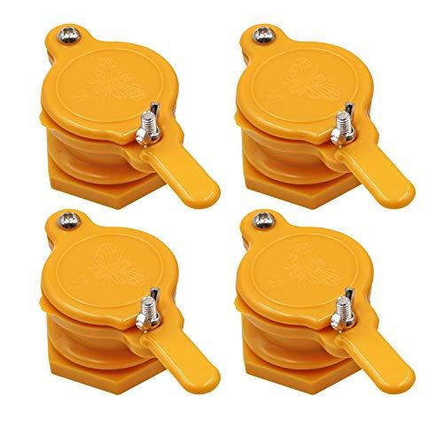 4 PCS Robinet Extracteur de Miel de Vanne de Miel en Nylon Ruche Abeille de Robinet de Miel pour Apiculteur Outil D'éQuipement D'Apiculture