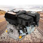 7,5 CV Moteur à essence,Moteur à kart industriel 4 Temps,1 Cylindre,3600 tr/min (Noir)